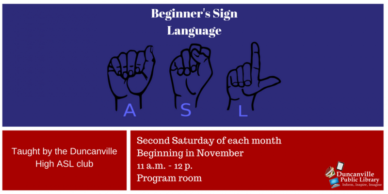 Beginner's Sign Language class